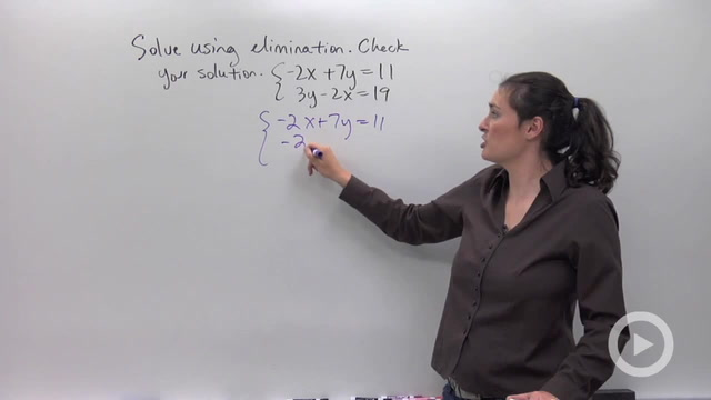 Solving Systems of Equations using Elimination - Problem 2