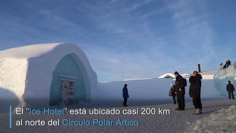 Un hotel bajo cero