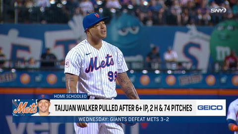Here's the biggest problem with Luis Rojas' decision to pull Taijuan Walker