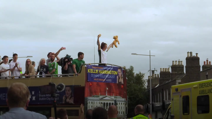 Irish Olympic champion celebrates gold medal with Lion King tribute in Dublin