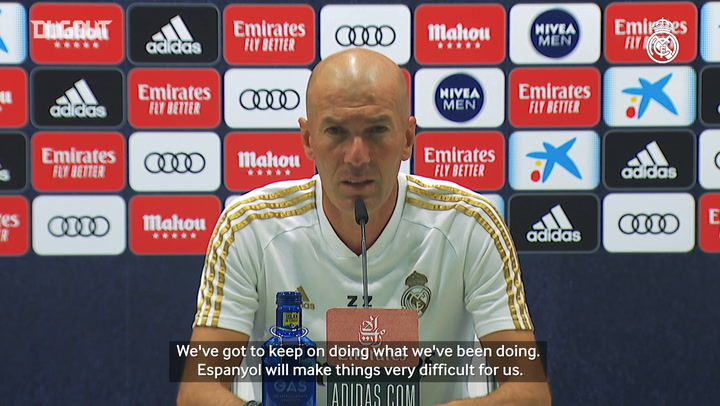 "Zidane: ""The Espanyol game is another cup final and we'll have to go all out"""