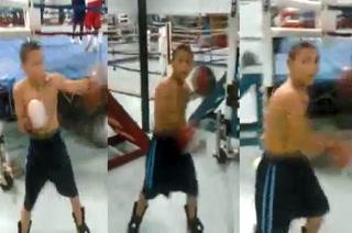 El imponderable video de Teófimo López entrenando a todo pulmón siendo un niño
