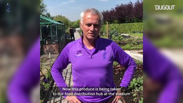 Spurs boss Jose Mourinho to help deliver fruit and vegetables