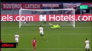 Lucas Ocampos hace el 1-0 del Sevilla ante el Bayern Munich