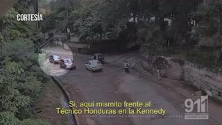 Cámaras registran persecución de pandilleros de la 18 en Tegucigalpa