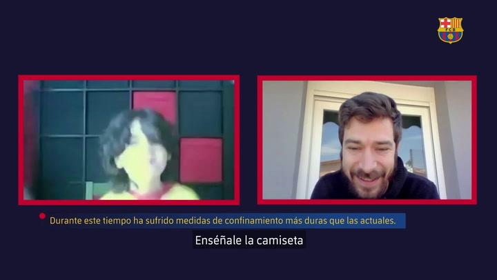 Sergi Fernández y Aitor Egurrola reciben una lección de vida del joven Bernat