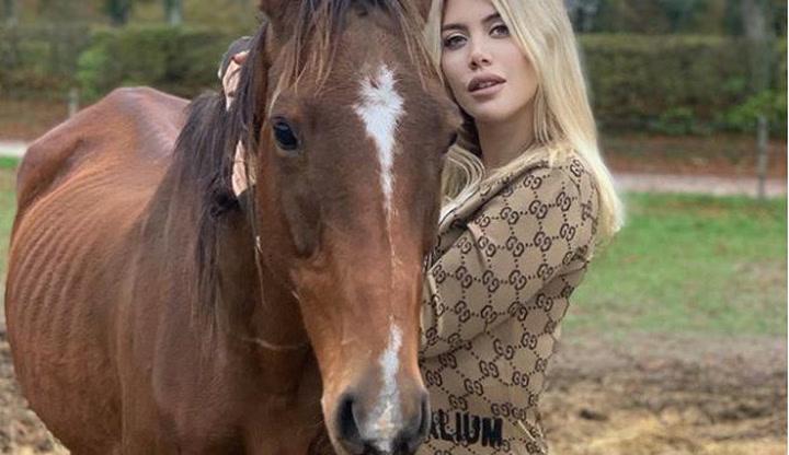 Wanda Nara sorprende a todos: ¡a lomos de un caballo!