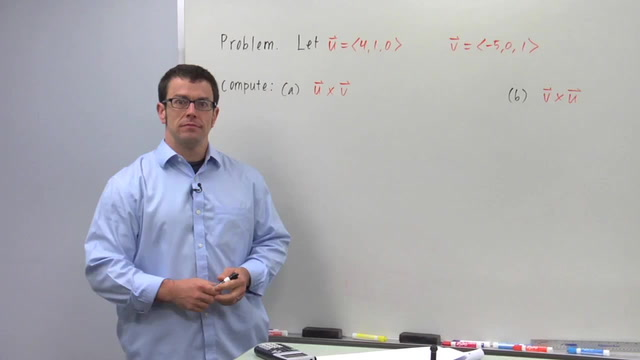 The Cross Product of Vectors - Problem 1