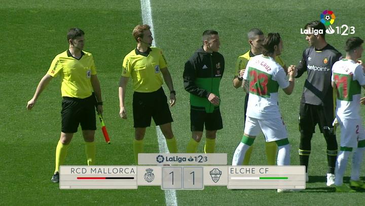 LaLiga 1|2|3: Resumen y Goles del Partido Mallorca (1) - (1) - Elche del 03/03/2019