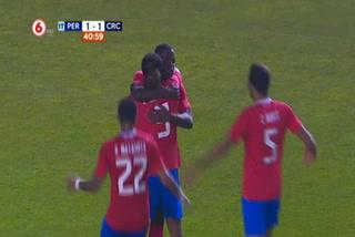 Perú y Costa Rica empatan 1 - 1 en la primera parte