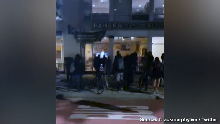 D.C. Rioters Smash into Panera Bread, Loot CVS