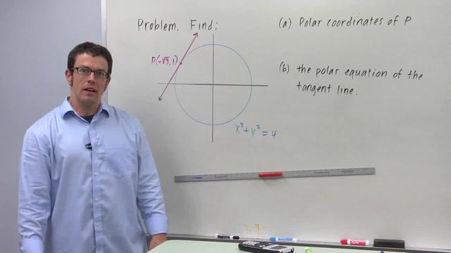 Lines in Polar Coordinates - Problem 3