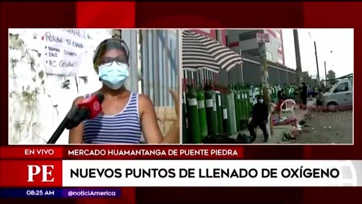"""Mujer se quiebra en cola para conseguir oxígeno para su madre: """"Nosostros nos cuidamos muchísimo pero igual el virus entró a mi casa"""""""