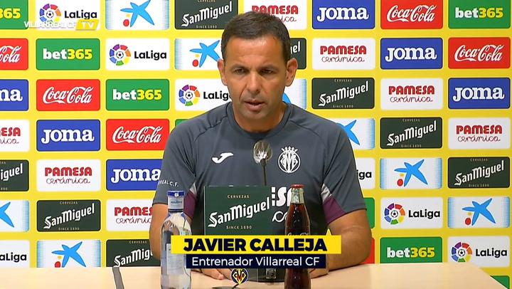 La rueda de prensa de Javi Calleja, entrenador del Villarreal