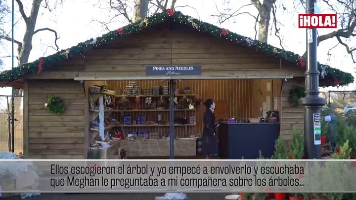 El hombre que vendió un árbol de Navidad al príncipe Harry y su novia asegura que les vio \'muy enamorados\'