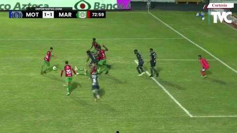 ¡Gol de Marathón! José Lobo anotó para los verdes. 1-1 el marcador.