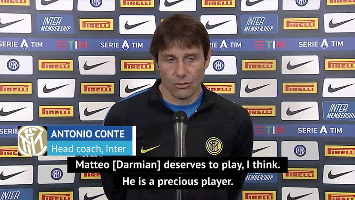 Conte lauds 'precious' match-winner Darmian as Inter continue Scudetto charge