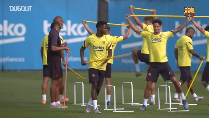 Fitness and ball work as Champions League preparations continue