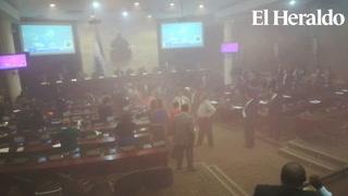 Nuevo zafarrancho de diputados de Libre en el Congreso Nacional