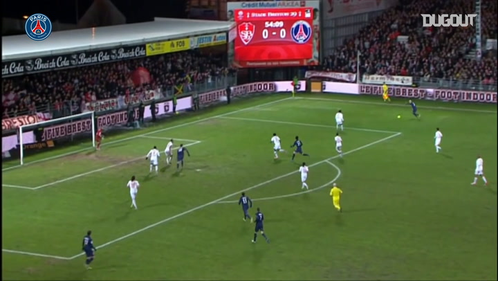 Paris Saint-Germain's last victory at Brest in 2012