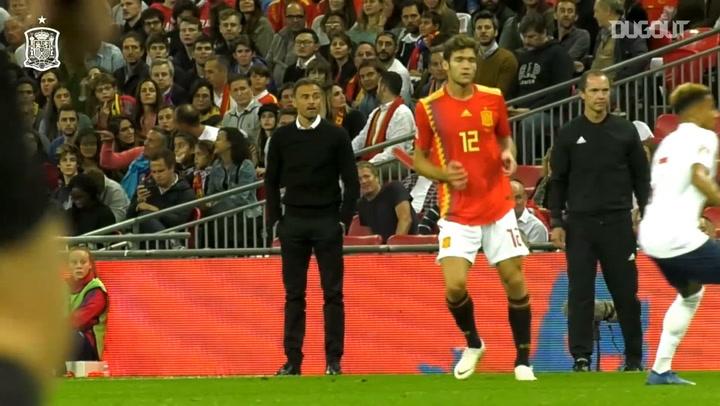 Luis Enrique's Spain debut at Wembley