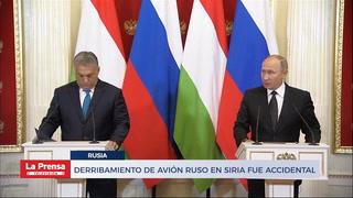 DERRIBAMIENTO DE AVIÓN RUSO EN SIRIA FUE ACCIDENTAL
