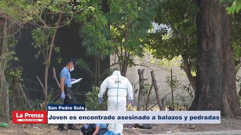 Joven es encontrado asesinado a balazos y pedradas en bulevar de San Pedro Sula
