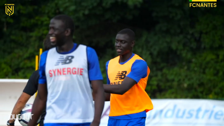 Abdoulaye Dabo's at Nantes training session