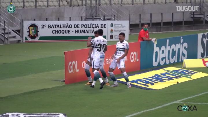 Rodrigo Muniz marca para o  Coritiba no Castelão; veja o gol