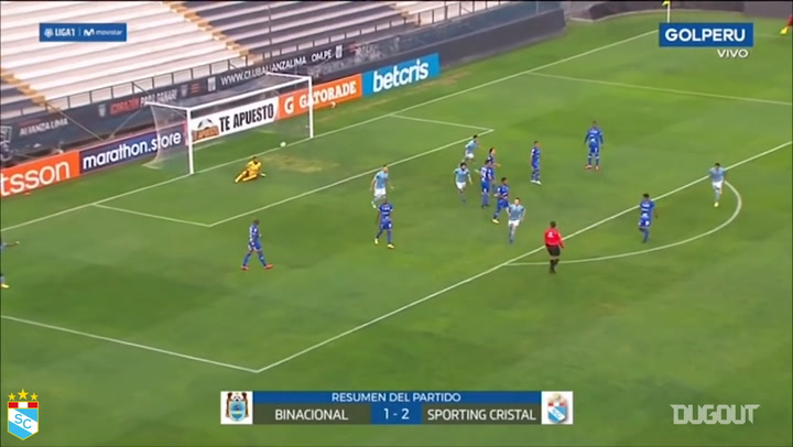 Horacio Calcaterra's goal from outside the box against Binacional