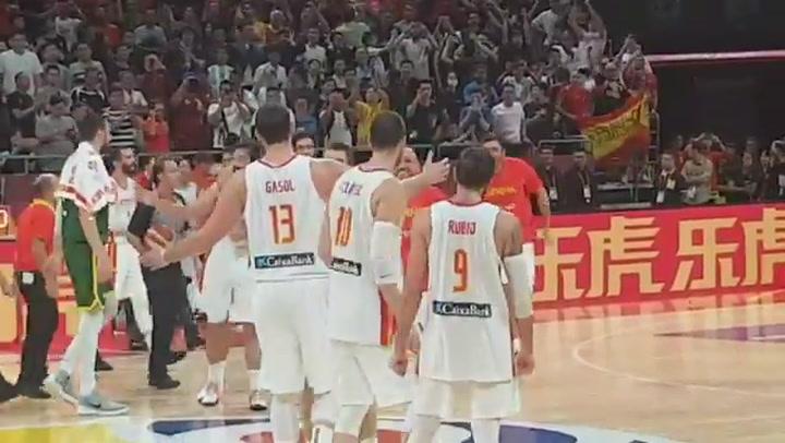 España celebra el pase a la final tras ganar a Australia en un partido de infarto