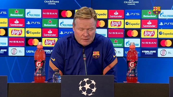 Koeman ha hablado sobre el descanso de Leo Messi y la tarjeta amarilla