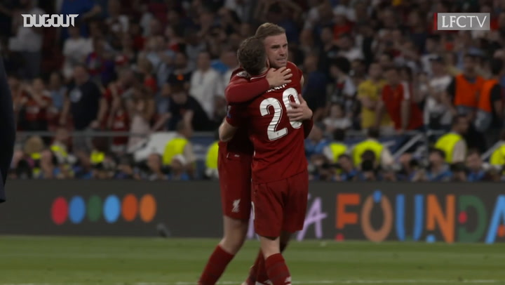 Emotional Full-Time Scenes As Liverpool Celebrate Champions League Win