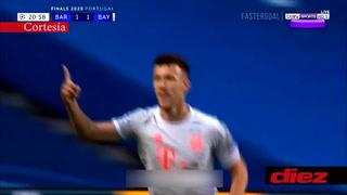 Errorazo de Sergi Roberto y Perisic marca el segundo del Bayern Múnich ante Barcelona