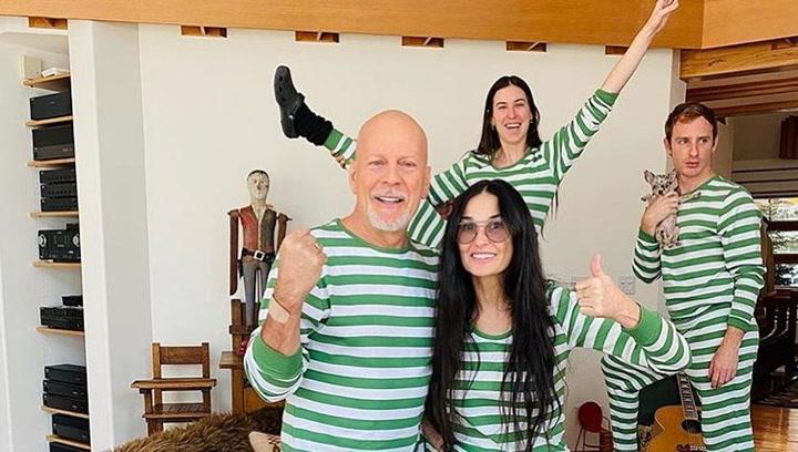 Así pasan juntos el confinamiento Bruce Willis y Demi Moore