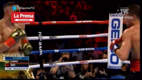 Teófimo López le ganó´a Edis Tatli en el quinto round