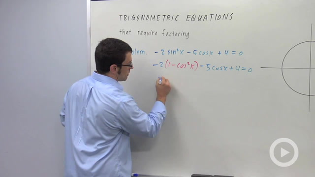 Trigonometric Equations that Require Factoring - Problem 3