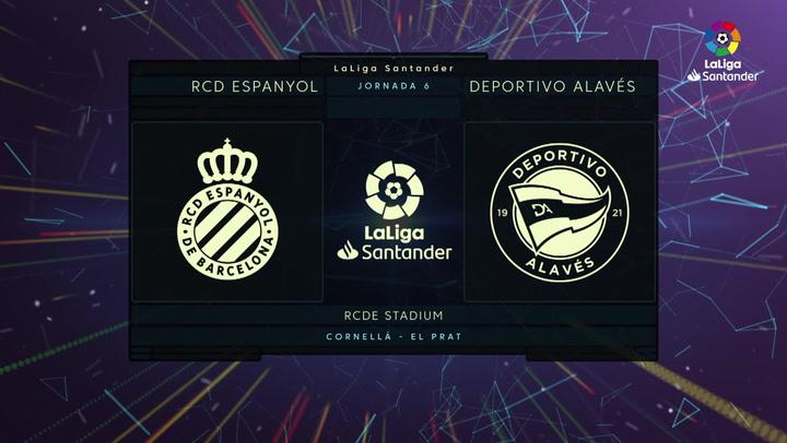 LaLiga Santander (J6): Resumen y gol del Espanyol 1-0 Alavés