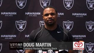 "Vegas Nation: Martin calls Raiders O-Line ""the best"" he's ran behind"