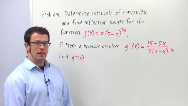 Concavity and Inflection Points - Problem 3