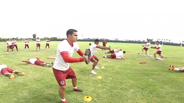 En el entrenamiento: Club Universitario se ejercita con intensidad en Campo Mar