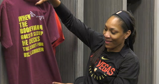 Las Vegas Aces A'ja Wilson's T-shirt Tradition – Video