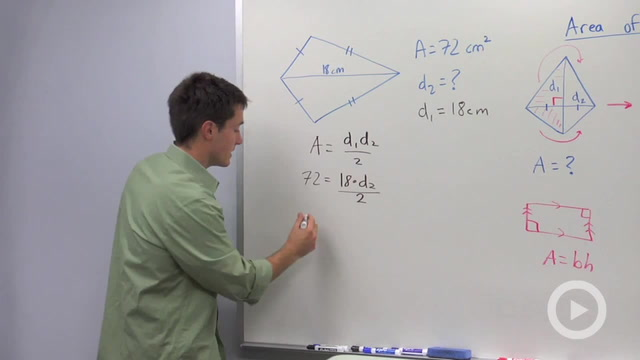 Area of Kites and Rhombuses - Problem 2