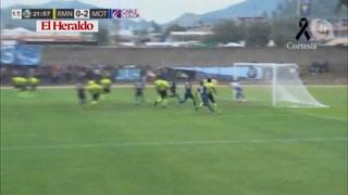 Motagua anota el 2-0 ante Real de Minas en el estadio Marcelo Tinoco
