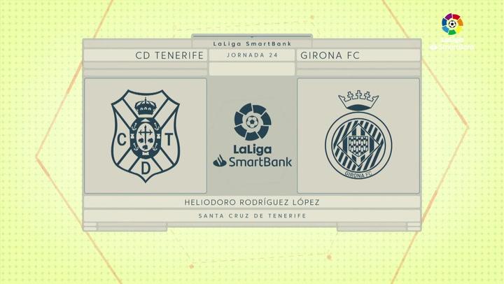 LaLiga SmartBank (J24): Resumen y gol del Tenerife 1-0 Girona