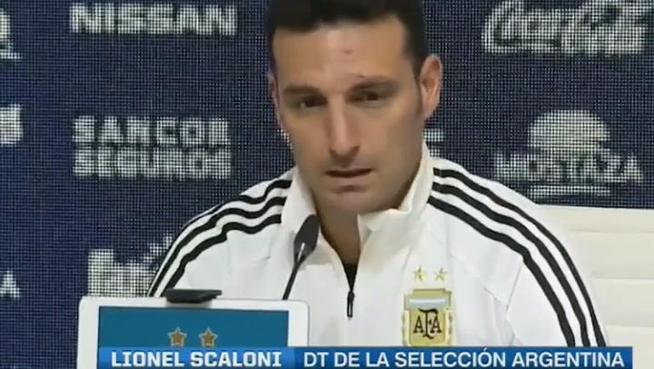 Lionel Scaloni habla sobre la convocatoria para la Copa América