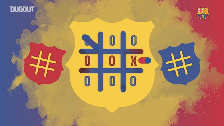 El tres en raya en el entrenamiento del Barça