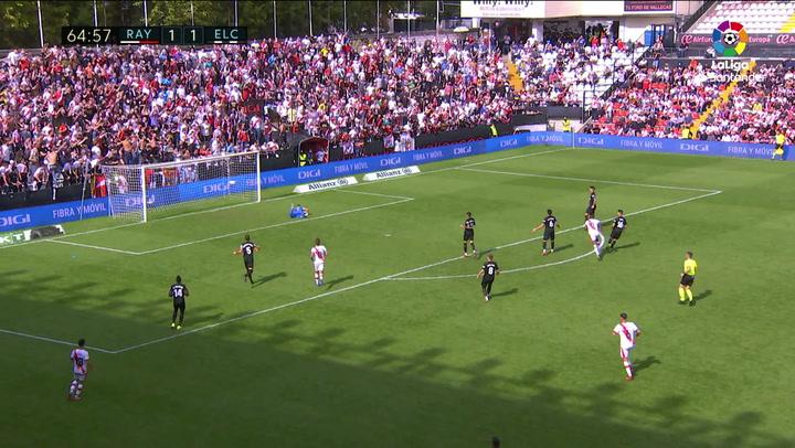 Gol de Nteka (2-1) en el Rayo Vallecano 2-1 Elche