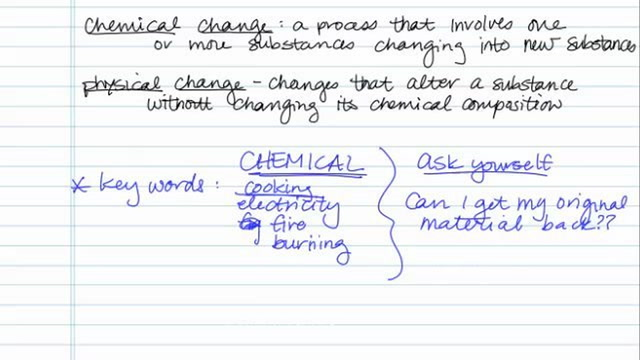 Identifying Chemical versus Physical Changes