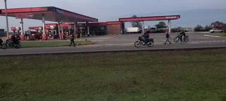 Transportistas en Comayagua se toman la carretera CA-5